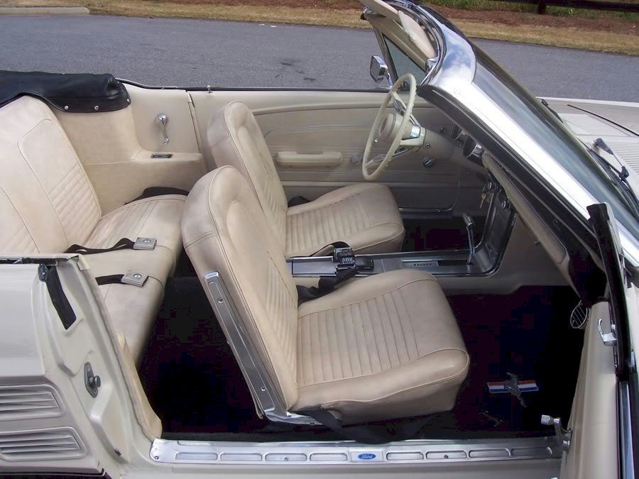 mustang 1967 interior convertible parchment beige 67 pebble ford mustangattitude options