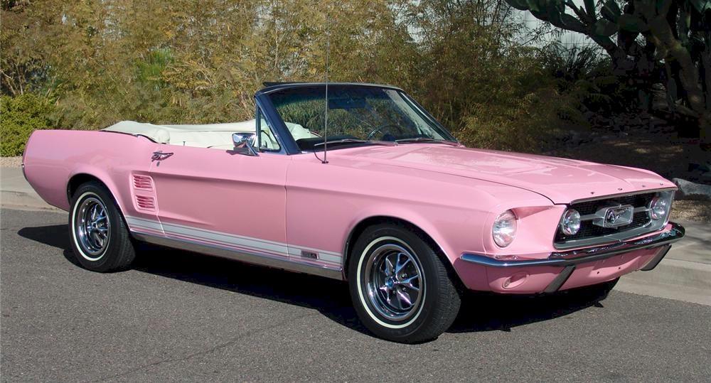 Pink 1967 Mustang Convertible