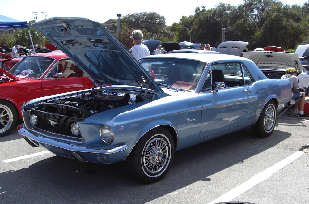Brittany Blue 1967 Ford Mustang Hardtop