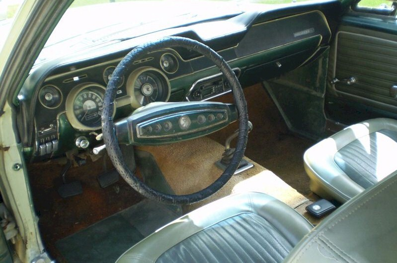 Sea Foam Green 1968 Interior