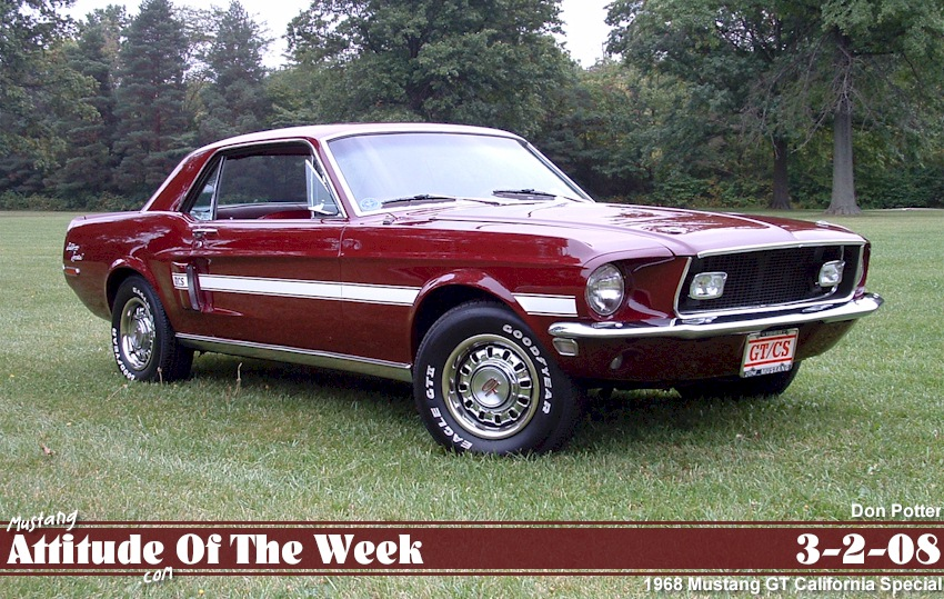 Royal Maroon 1968 Mustang GT-CS