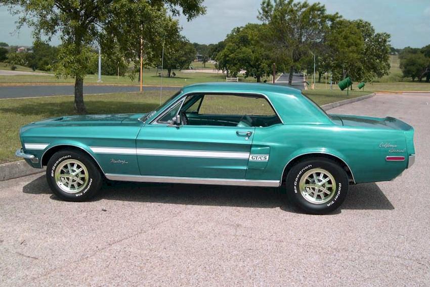 Gulfstream Aqua Blue 1968 Ford Mustang GT California ...