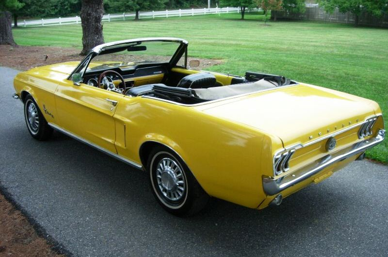 Corporate Yellow 68 Mustang Convertible