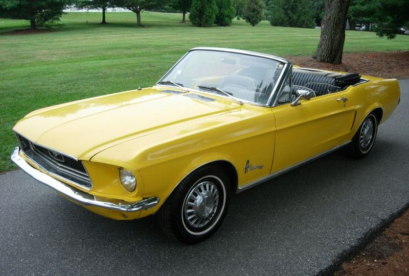 Corporate Yellow 1968 Mustang Convertible