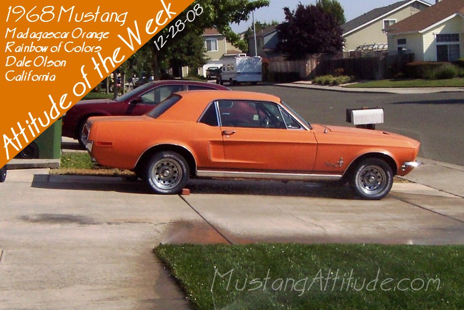 Madagascar Orange 1968 Rainbow of Colors Promotional Mustang Hardtop