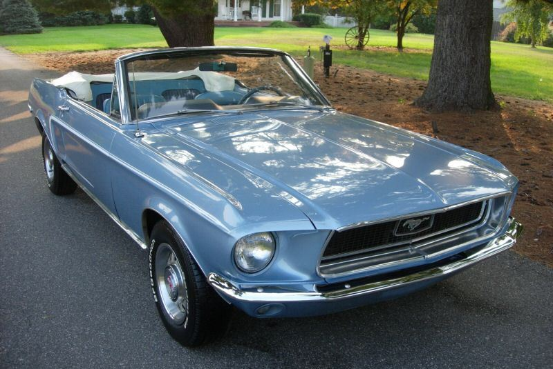 1968 Mustang right front view