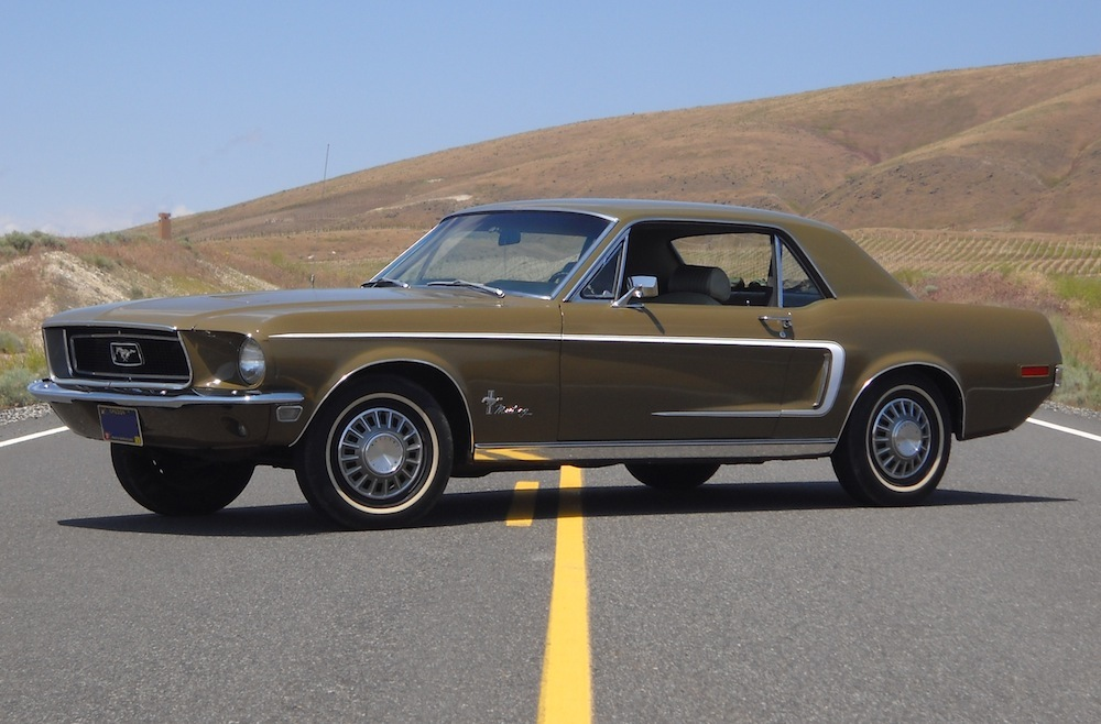 Olive Green 1968 Mustang Hardtop