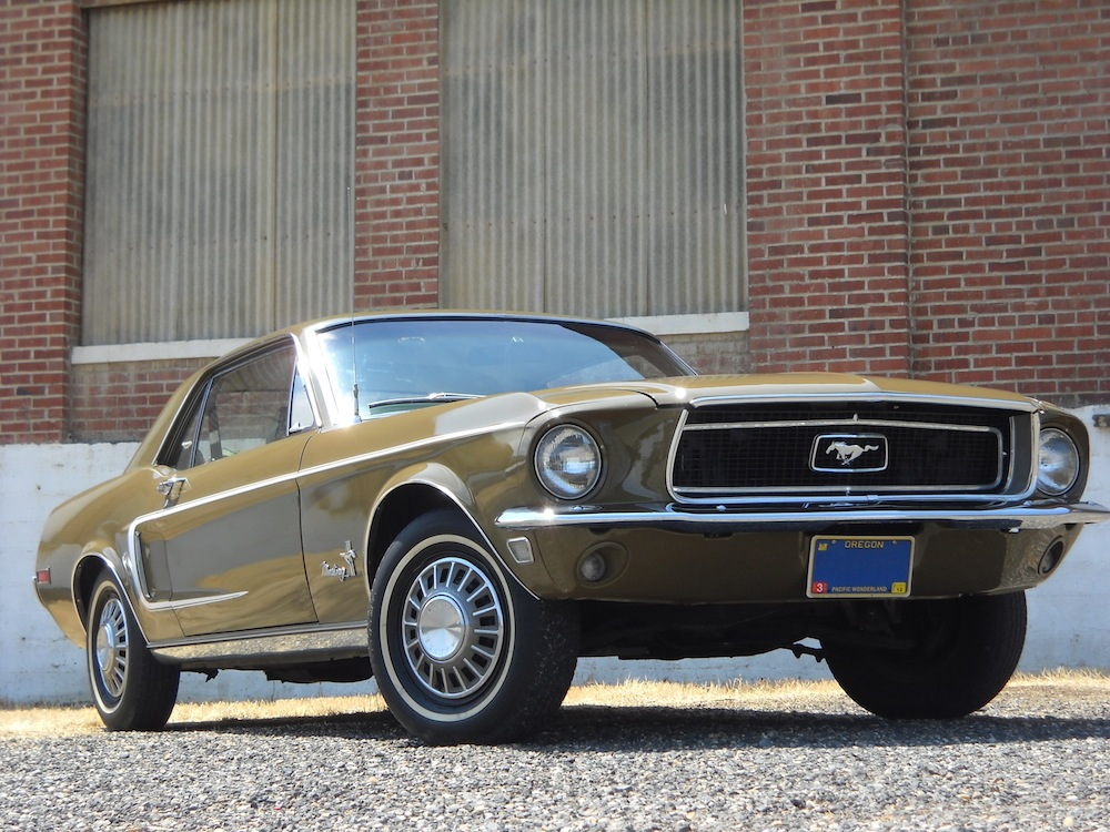 Olive Green 68 Mustang Hardtop