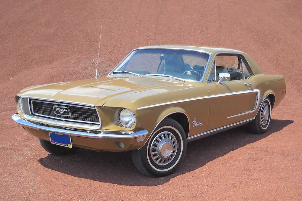 Olive Green 1968 Rainbow of Colors Promotional Mustang Hardtop