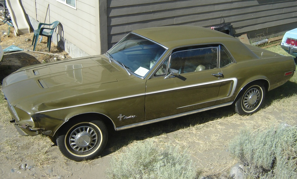 Olive Green 1968 Rainbow of Colors promotinal Mustang hardtop