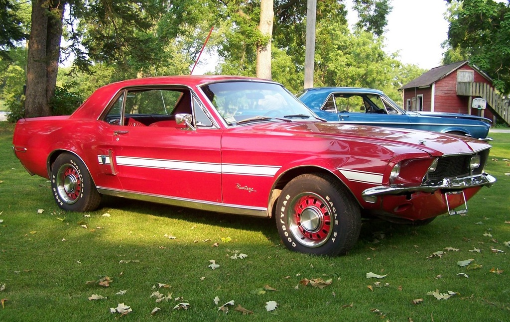 Candy Apple Red 1968 Mustang GT High Country Special