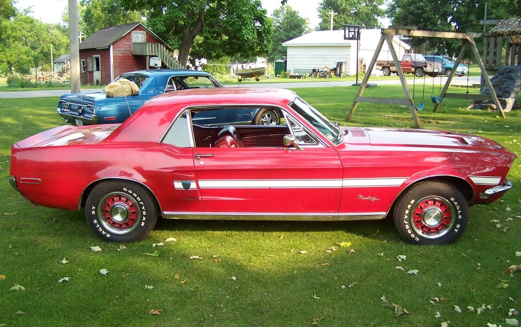 Candyapple Red 68 Mustang GT High Country Special
