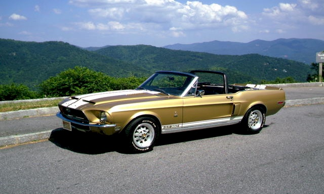 Sunlit Gold 1968 Shelby GT-500H