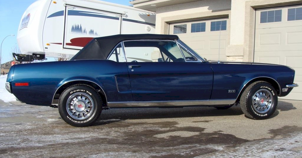 Presidential Blue 1968 Ford Mustang Gt Convertible