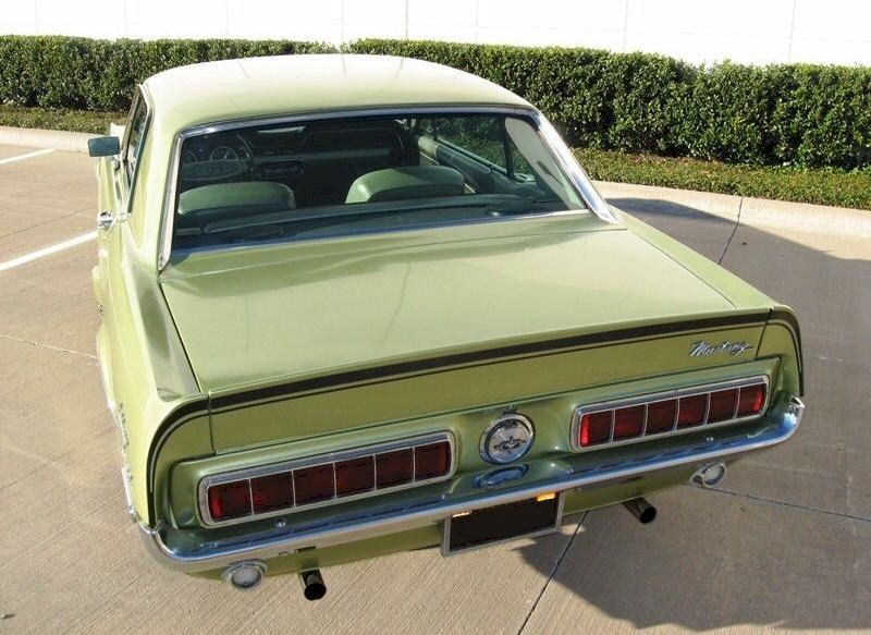 Lime Gold 1968 Mustang GT/CS