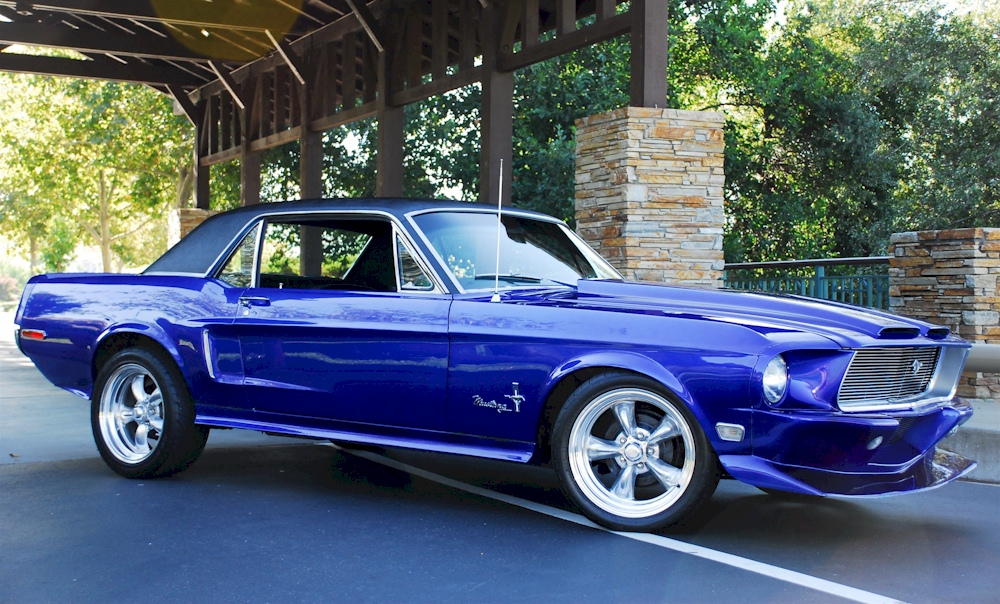 Blue 1968 Ford Mustang Gt Hardtop Cool Photo
