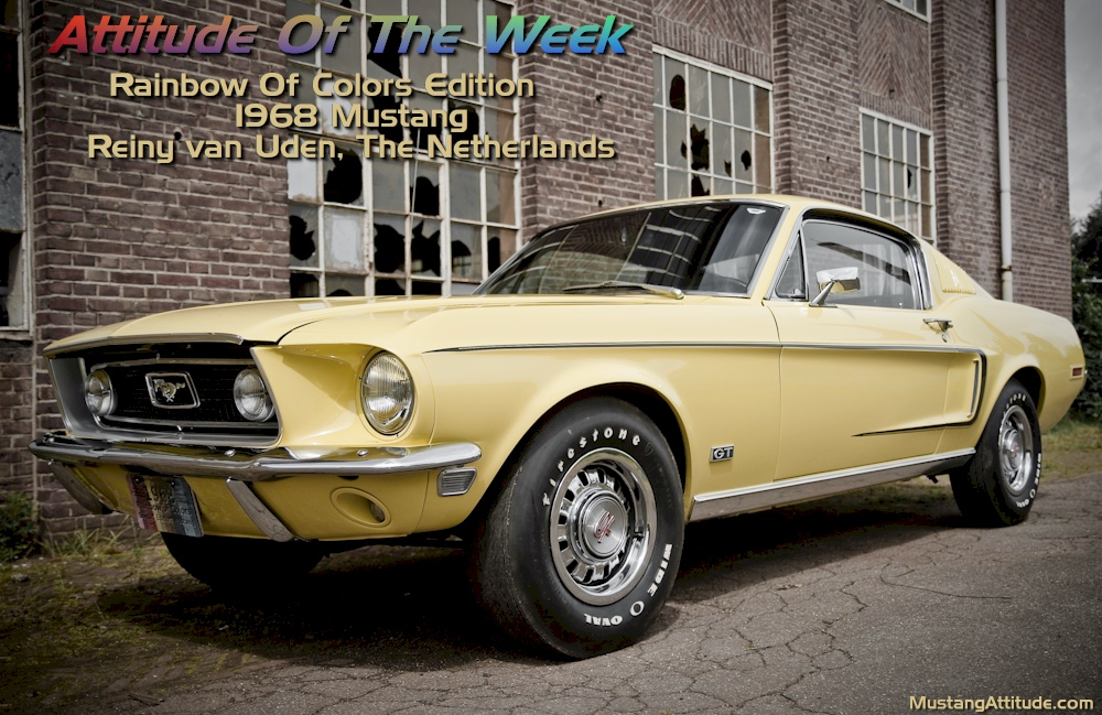 Special Order Yellow 1968 Rainbow of Colors Mustang fastback