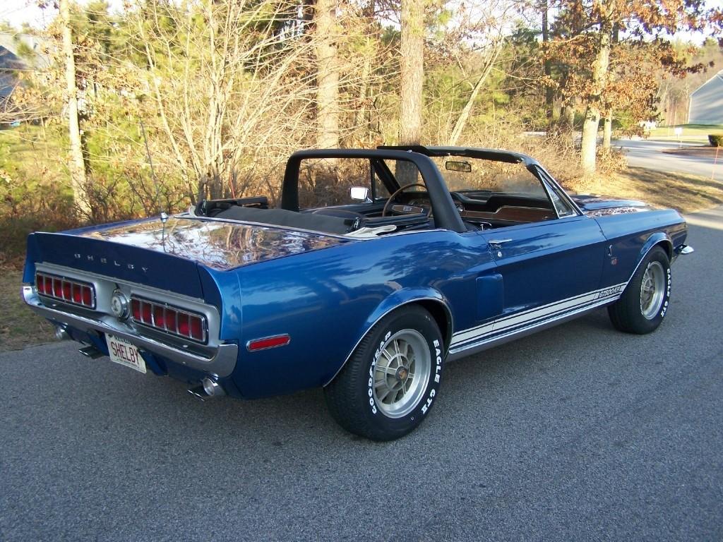 Medium Blue 1968 Mustang