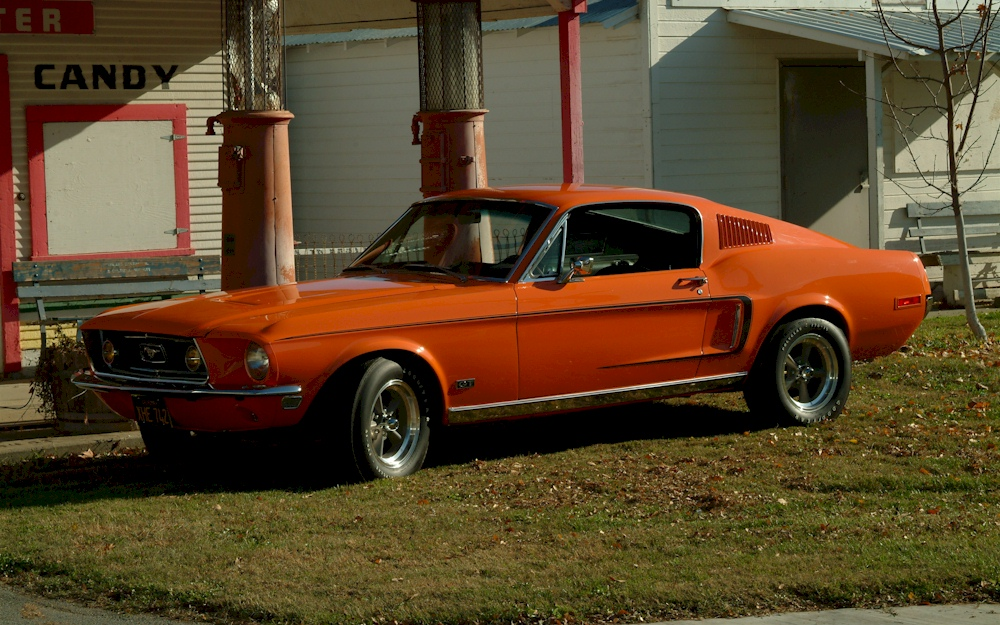 madagascar orange 1968 ford mustang gt rainbow of colors fastback photo detail. Black Bedroom Furniture Sets. Home Design Ideas
