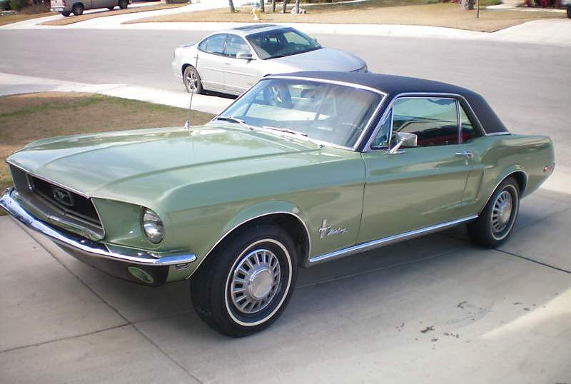 Lime Gold 1968 Mustang Sprint Hardtop