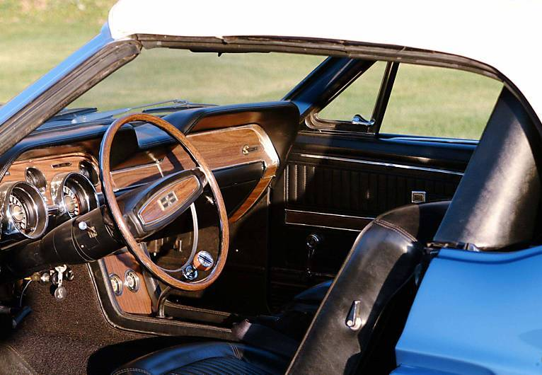 Black Interior 1968 Shelby GT500KR Mustang Convertible