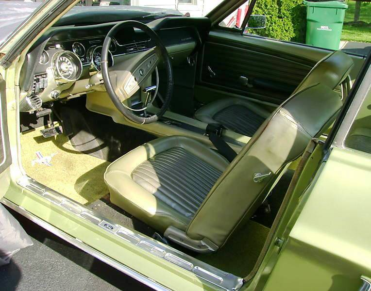 lime gold green 1968 ford mustang hardtop photo detail. Black Bedroom Furniture Sets. Home Design Ideas