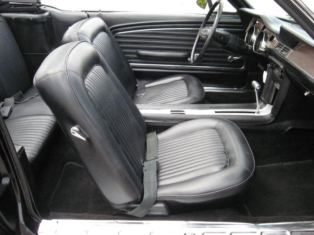 Black Interior 1968 Mustang