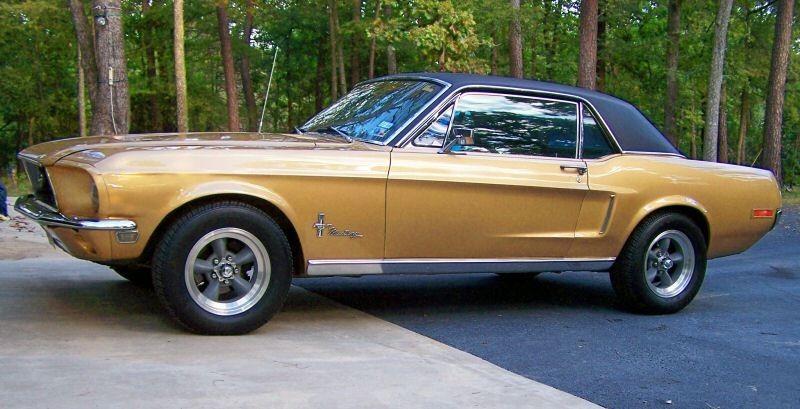 Sunlit Gold 1968 Ford Mustang Hardtop Mustangattitude