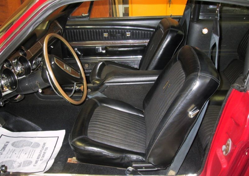 Black Interior 68 Shelby GT350 Fastback