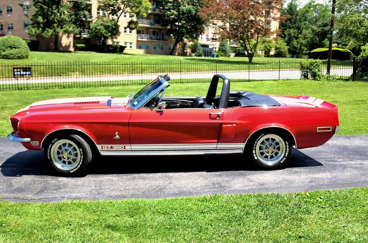 Candyapple Red 1968 Shelby GT350 Mustang