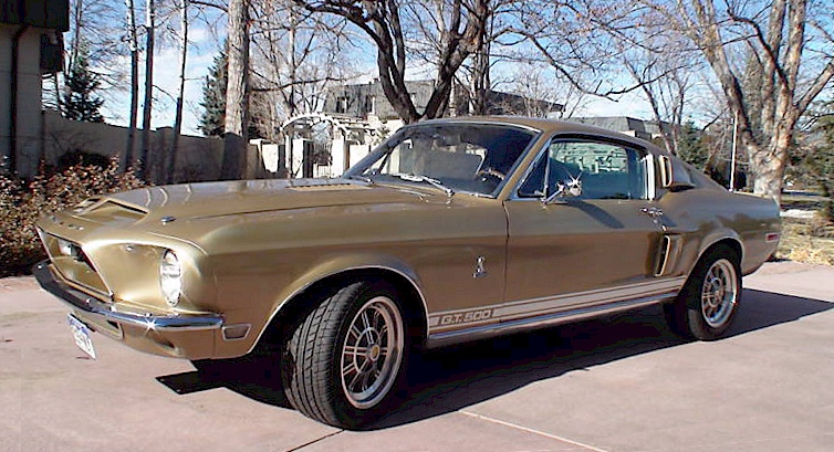 Gold 1968 Shelby GT-500