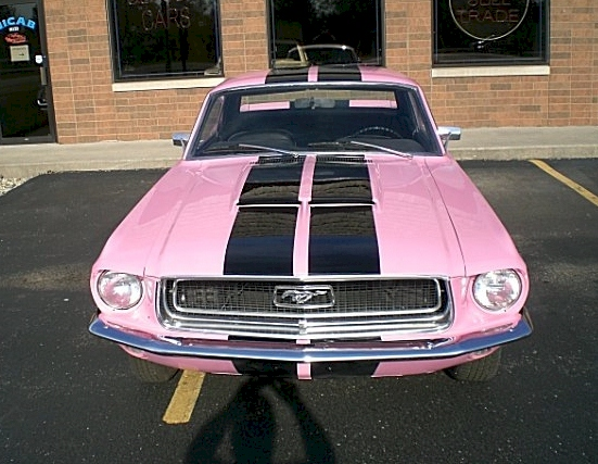 Passionate Pink 1968 Mustang Hardtop