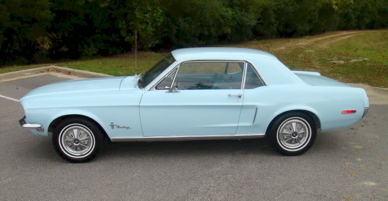 Diamond Blue 1968 Ford Mustang Hardtop Mustangattitude Com Photo Detail