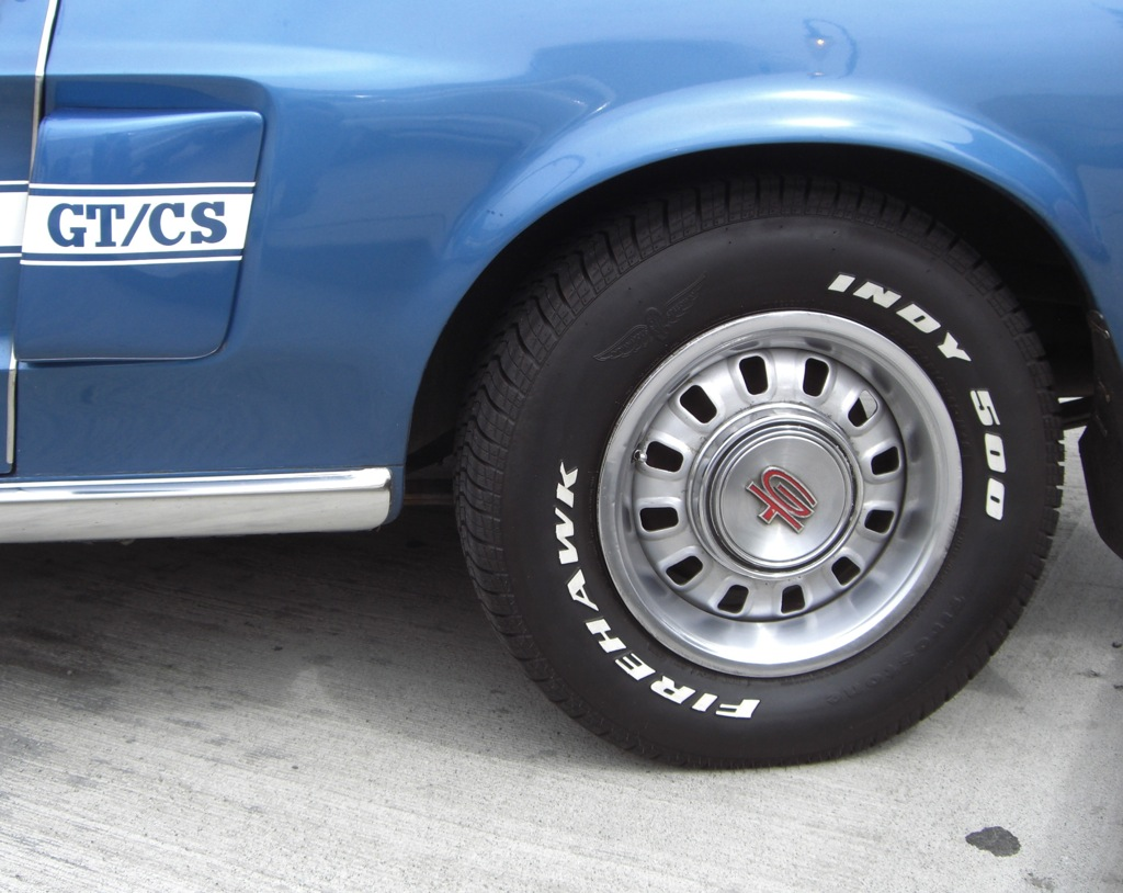 1968 Mustang GT wheel covers
