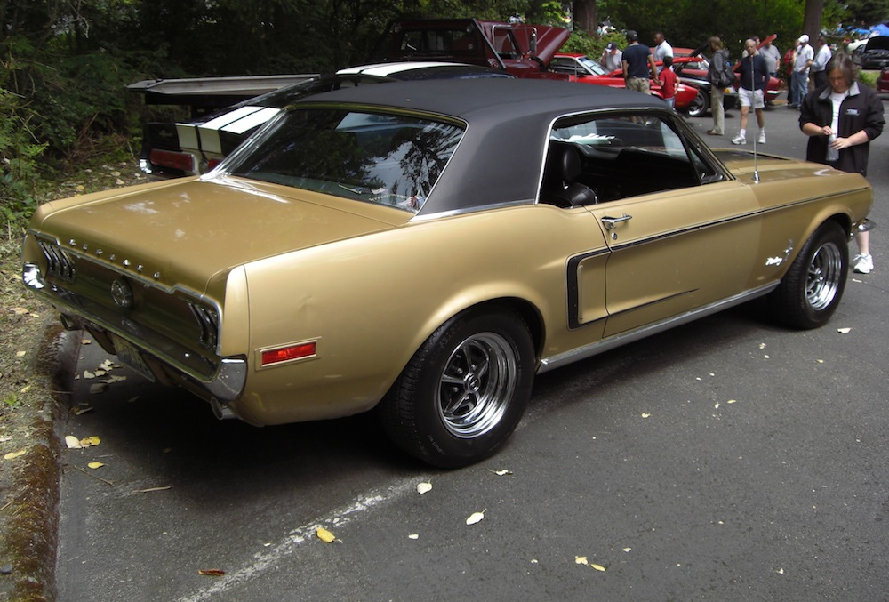 Sunlit Gold 1968 Ford Mustang Golden Nugget Special