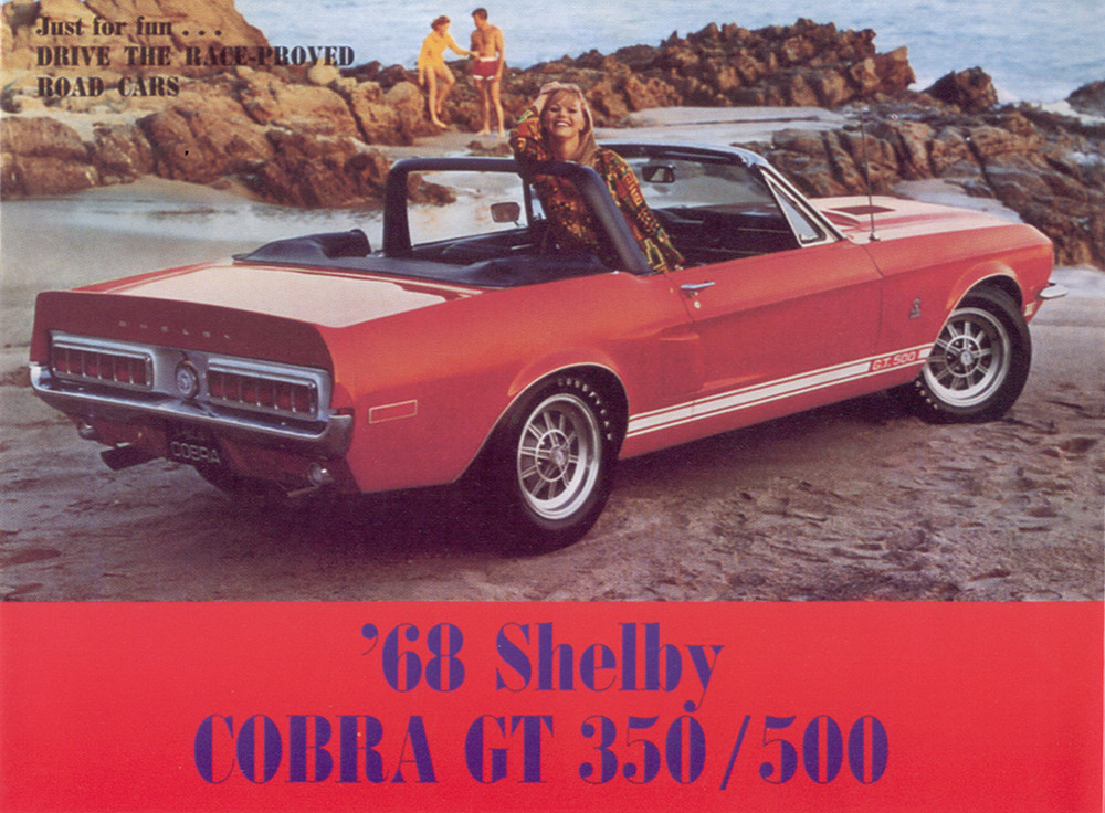 1968 Shelby 500 350 Mustang Brochure