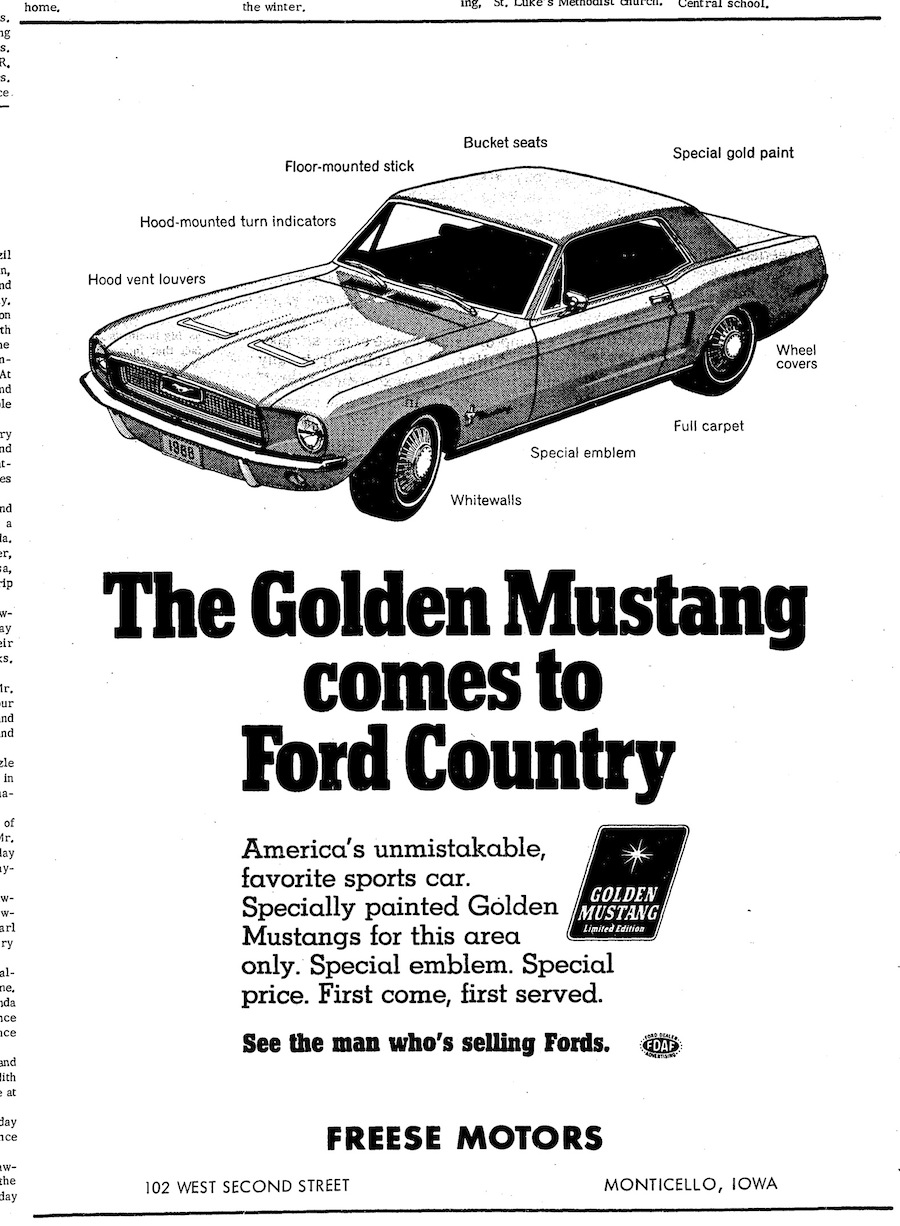 Golden Mustang Limited Edition