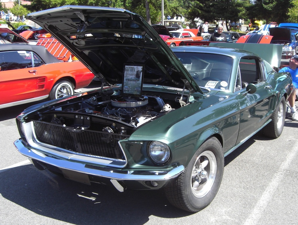Highland Green 1968 Mustang Bullitt Recreation Fastback