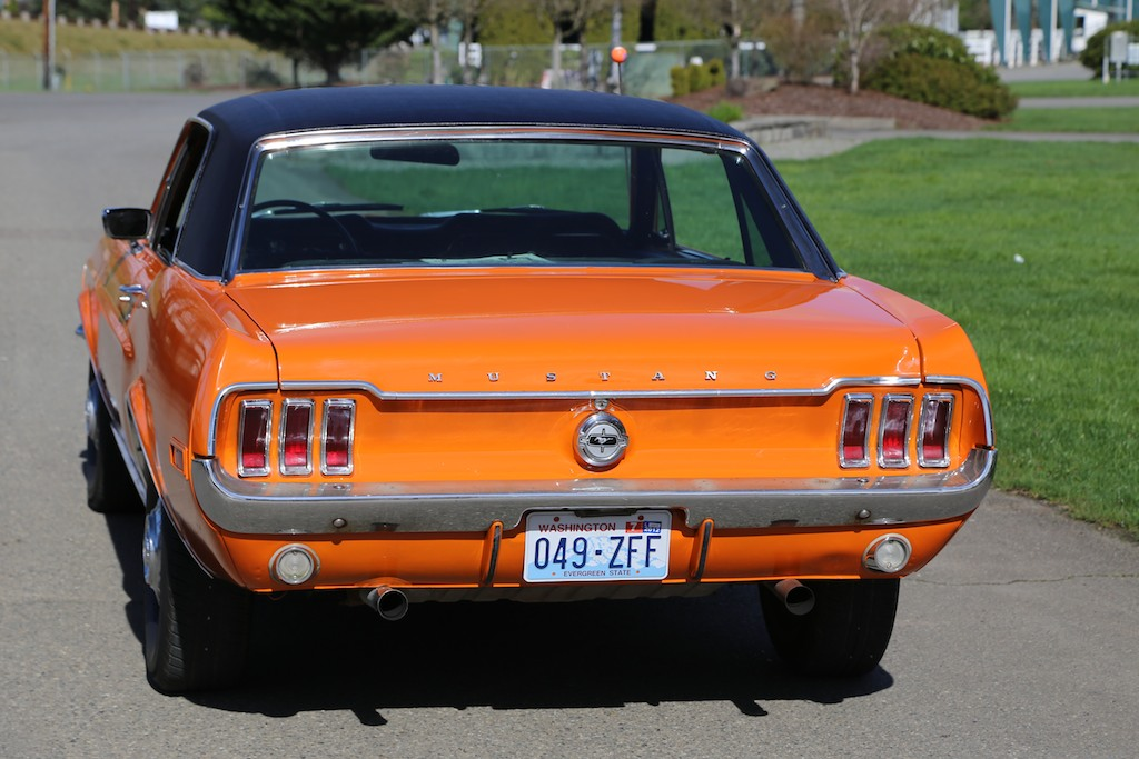 1968 Madagascar Orange Rainbow of Colors Mustang