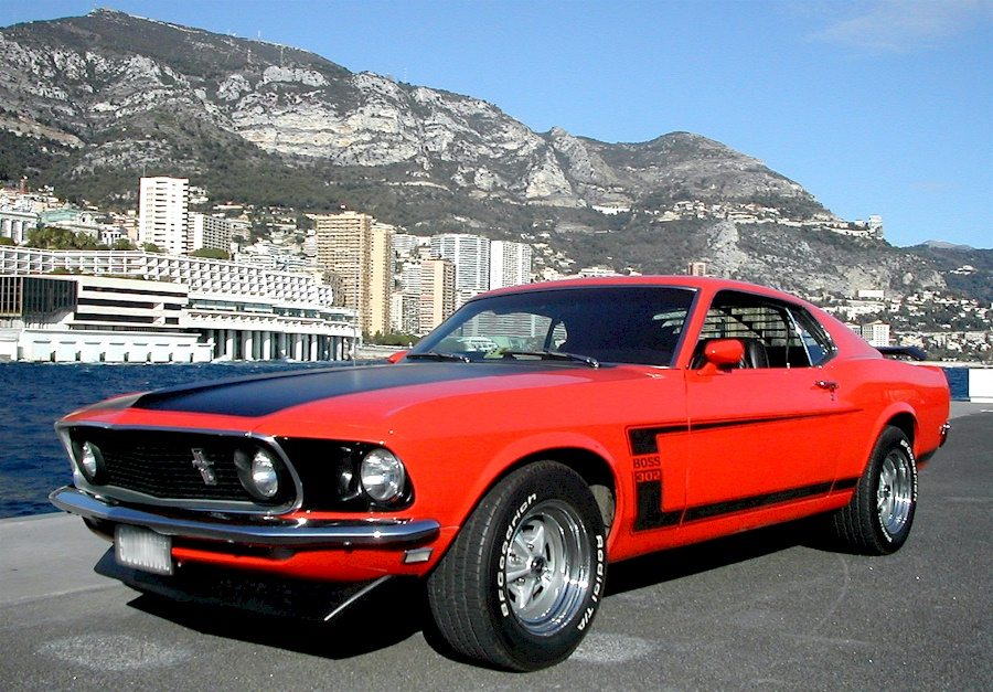 Candy Apple Red 1969 Mustang Boss 302