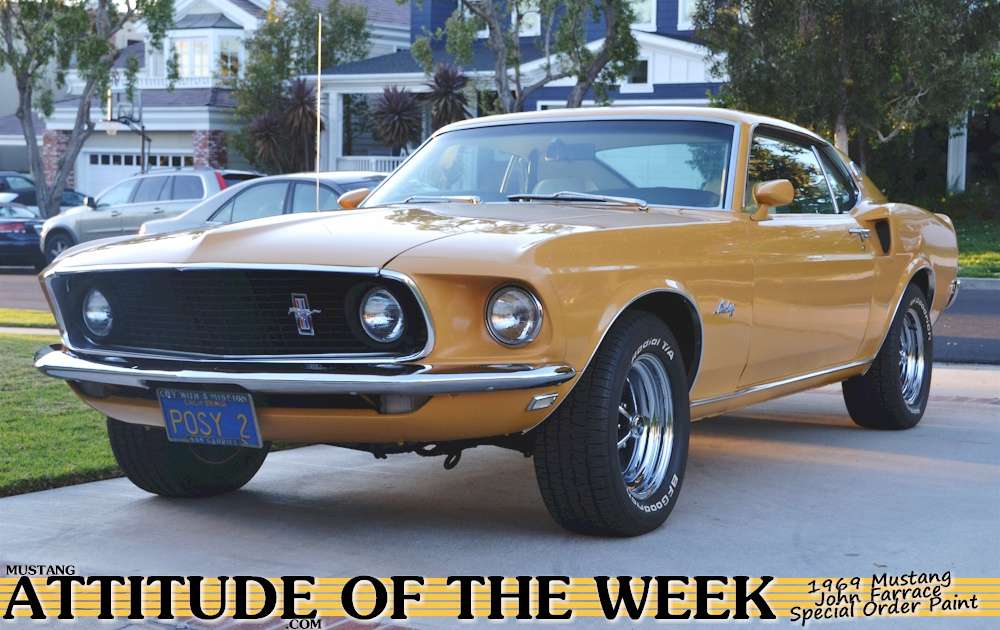 Yellow 69 Mustang Fastback