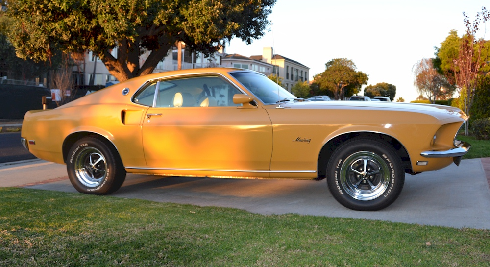 Yellow 1969 Mustang Fastback