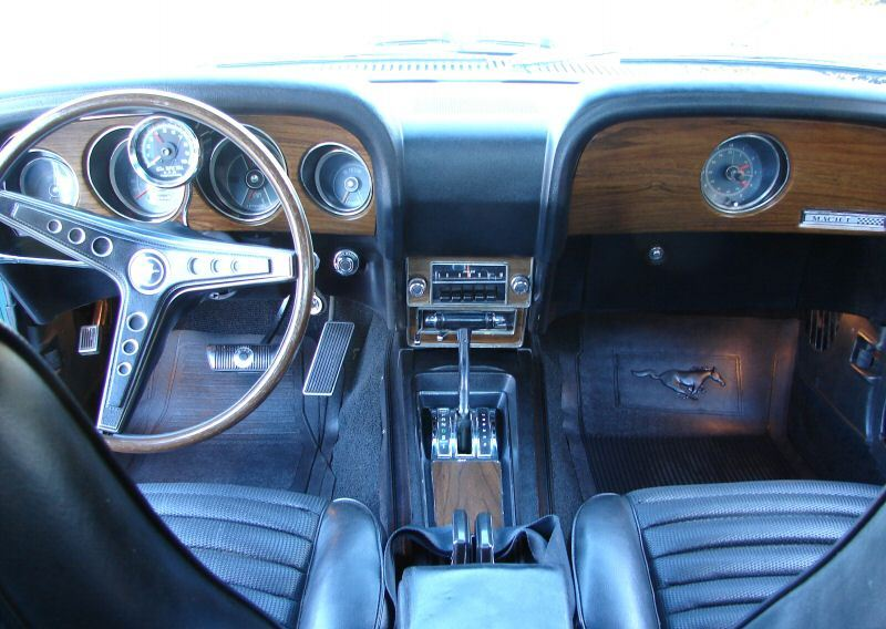 interior close up 1969 mustang mach 1