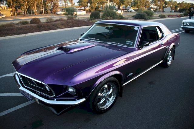 Wild Violet Purple 1969 Ford Mustang Hardtop