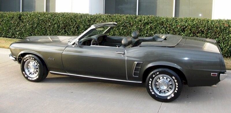 Black Jade 1969 Mustang Convertible