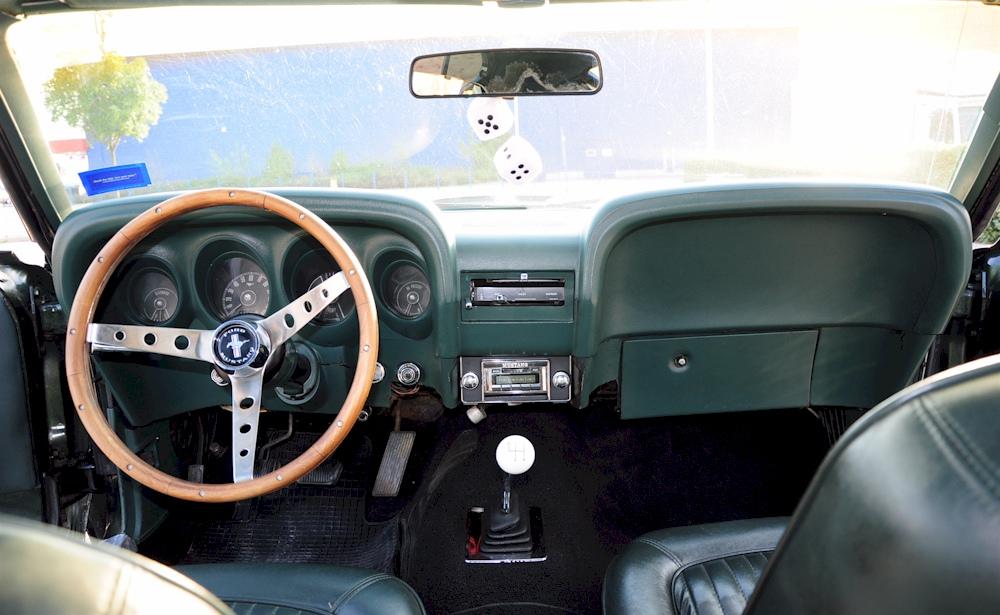 Black Jade Green 1969 Ford Mustang Fastback Photo Detail