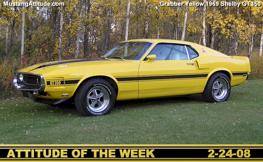 Bright Yellow 1969 Shelby GT-350