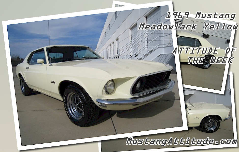 Meadowlark Yellow 1969 Mustang Hardtop