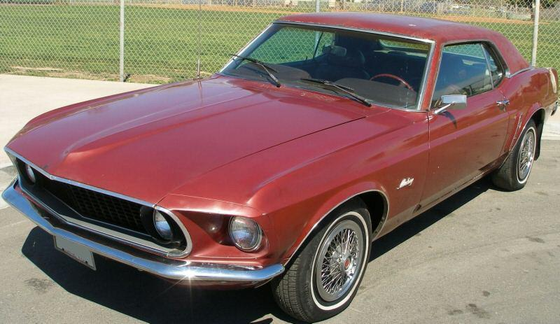 Indian Fire Red 1969 Ford Mustang - Paint Cross Reference