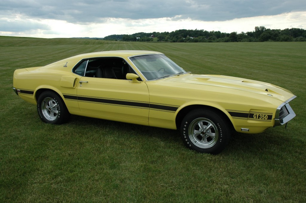 Grabber Yellow 69 Shelby GT-350 Mustang Fastback
